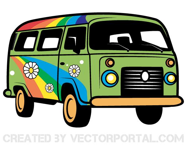 Hippie Van Vector Image Download Free Vector Art Free