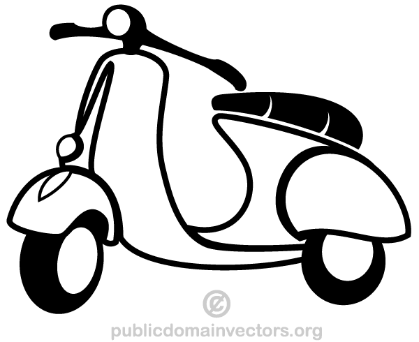 Vector Scooter Clip Art