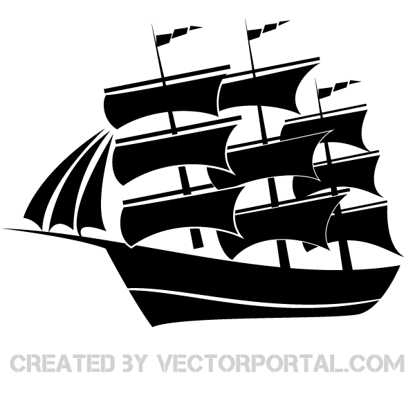 Vector Sailboat Silhouette