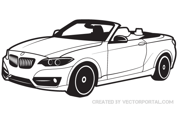 bmw car vector image download free vector art free vectors. Black Bedroom Furniture Sets. Home Design Ideas
