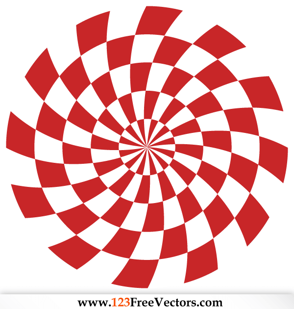 Optical Illusions Red Background Vector Free Download