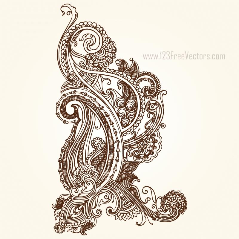 Henna Paisley Designs Download Free Vector Art Free Vectors