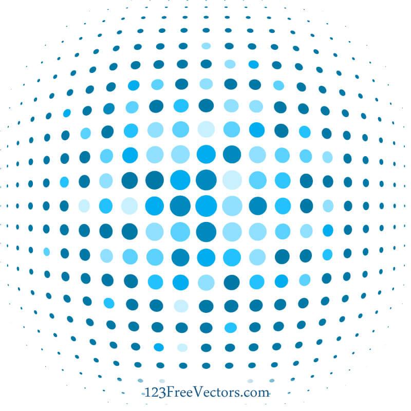 Blue Dot Background Illustrator Download Free Vector Art