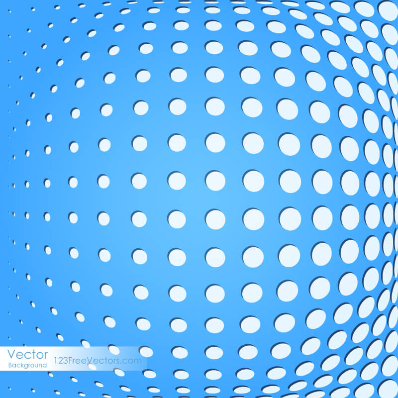Abstract Blue Dot Background Image