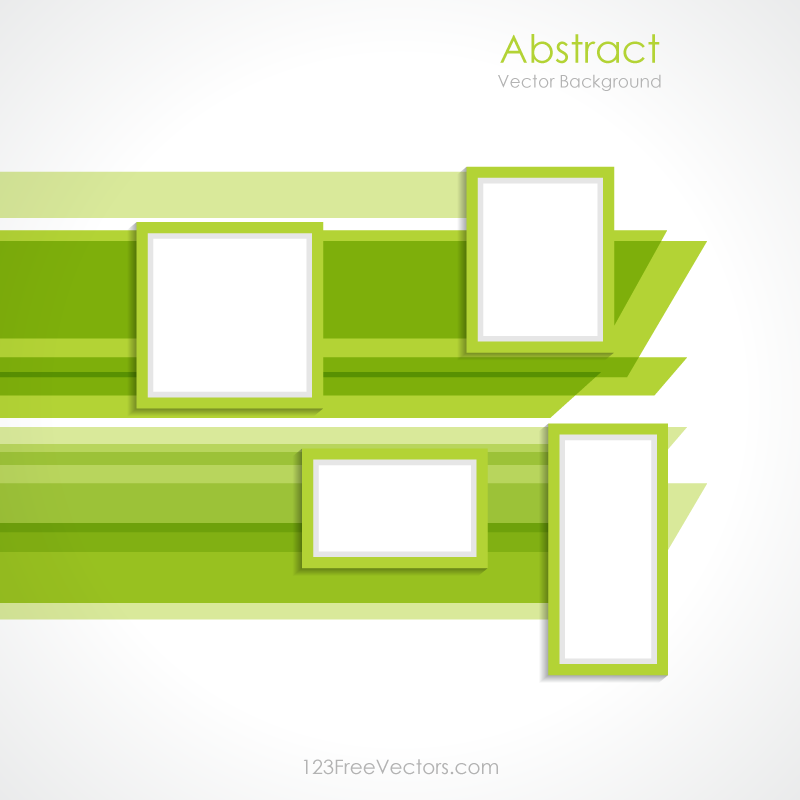 Abstract Green Rectangle Background Vector Design