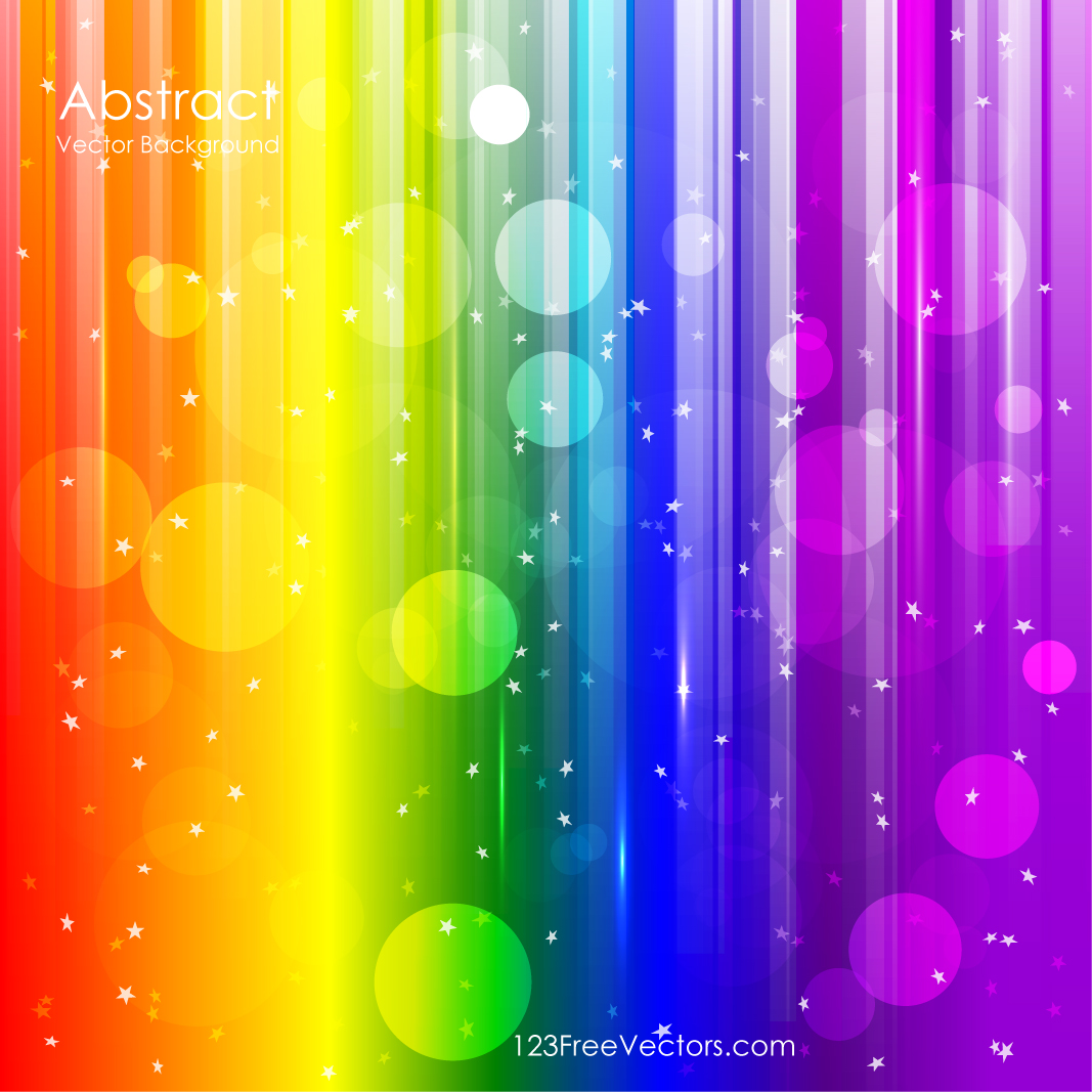 vector abstract rainbow background download free vector art free
