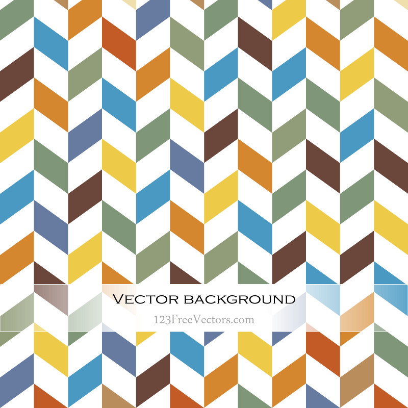 Colorful Chevron Background Vector