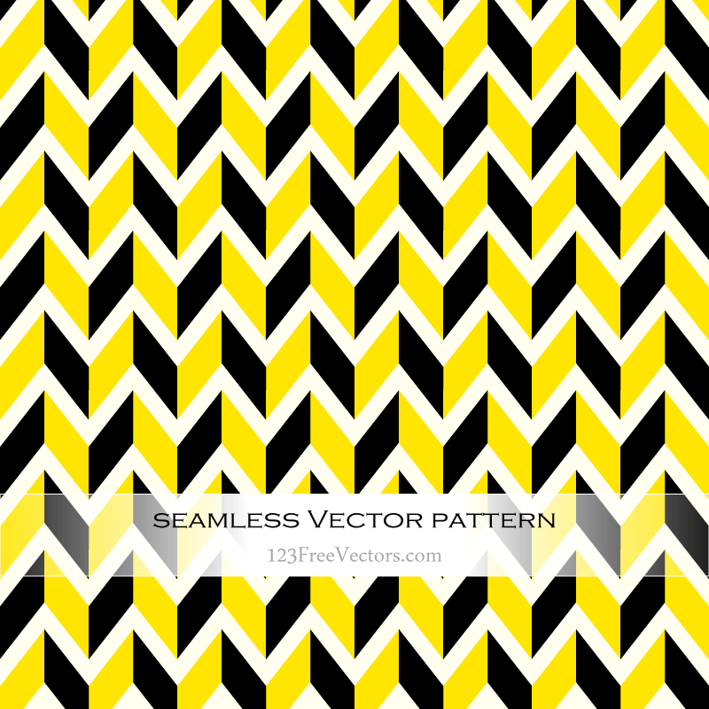 Yellow and black chevron pattern background