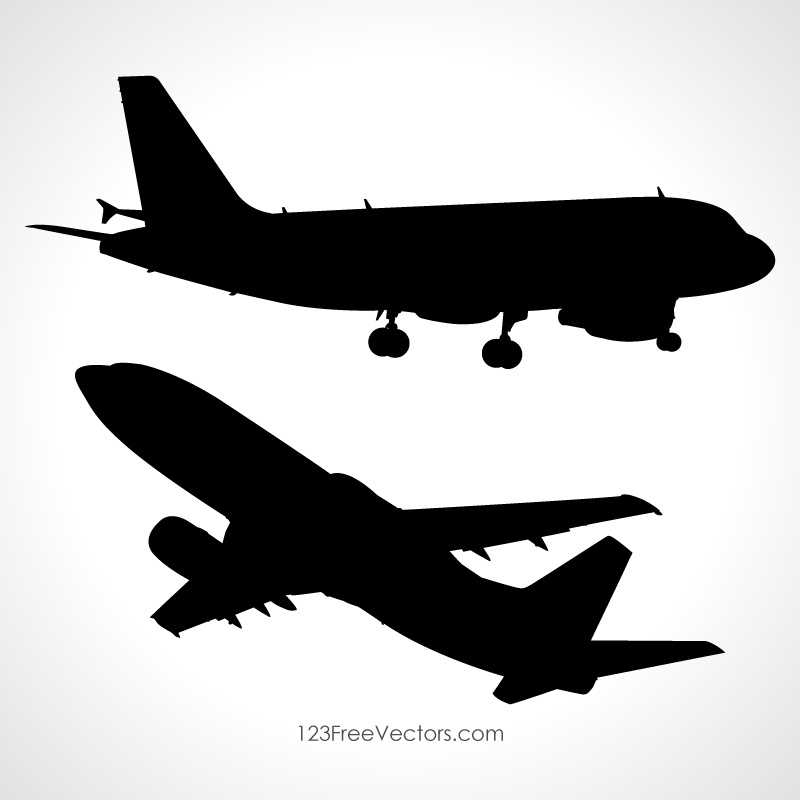 Aeroplane Vector Silhouette Download Free Vector Art