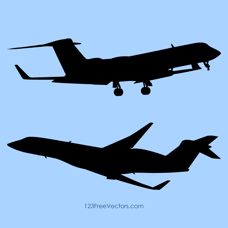 Airplane Silhouette Vector Free