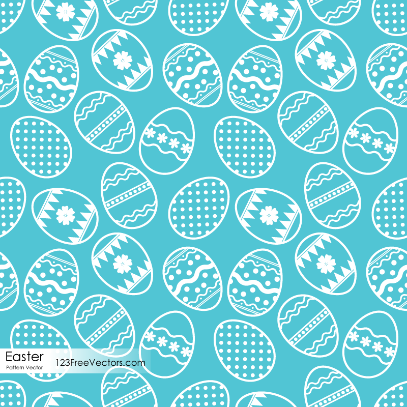 Easter Egg Pattern Vector Free Download