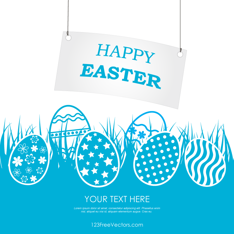 Happy Easter Banner Clip Art