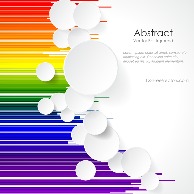 Line Design Art Psd : White paper circles on rainbow geometric lines background
