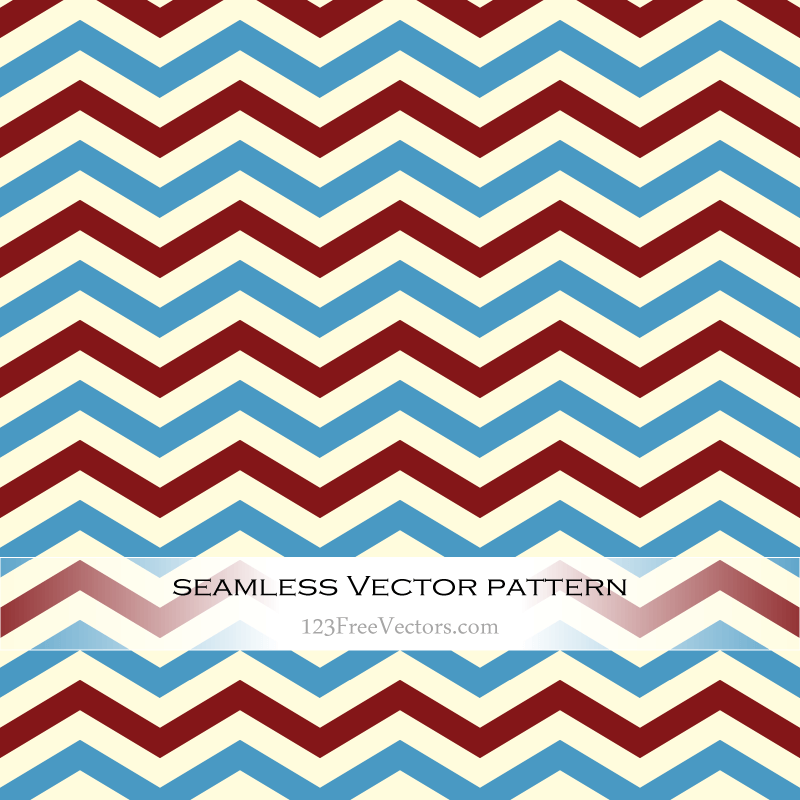Retro Zigzag Seamless Pattern Vector