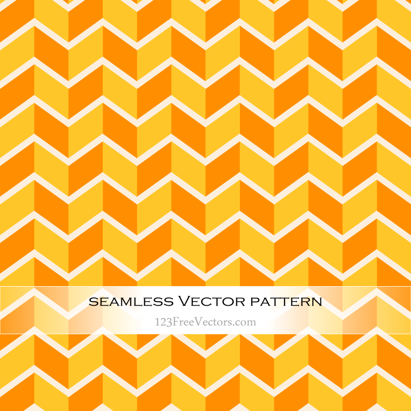 Orange and Yellow Zig Zag Seamless Pattern