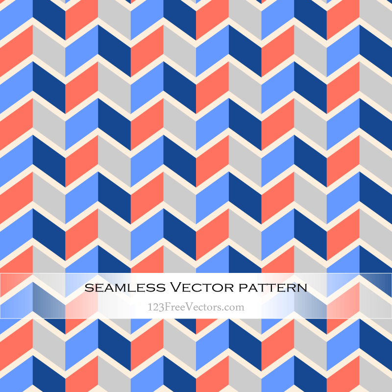 Colorful Zigzag Pattern Background Vector
