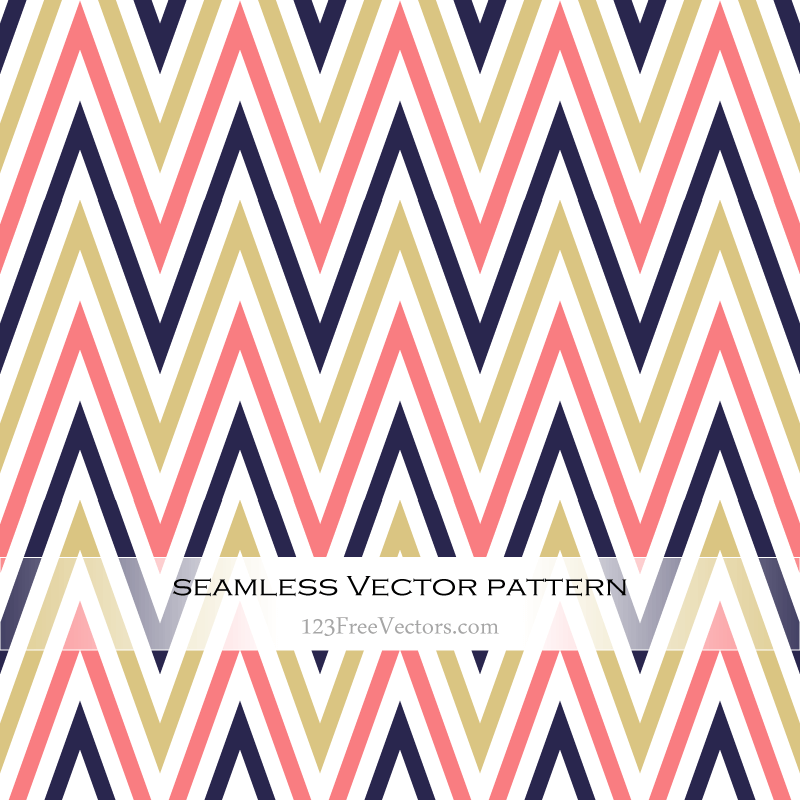 Colorful Zigzag Seamless Pattern Illustration