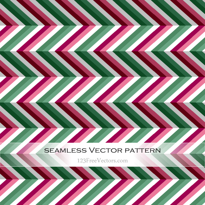 Zigzag Seamless Pattern Vector Illustration
